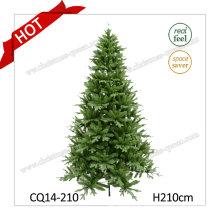 H7 Feet Wholesale Artificial Handmade Plastic Mixed Leaves Christmas Tree