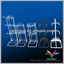 La alta calidad 3 ata la exhibición robusta de la botella del galón del metal de 5 galones