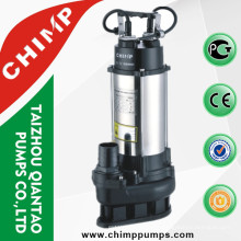 Stainless Steel Sewage submersible water pumps 0.45KW 0.6HP with float switch