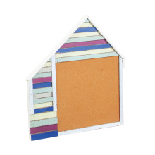 Wooden Memo Board with Distressing Finish