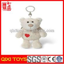 Professional design cute gift bear plush keychain and coin purse
