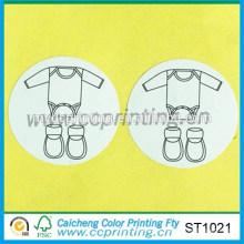 fabricación de etiqueta engomada de papel etiqueta de etiqueta engomada de tela