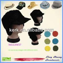 LSW57, Ningbo Lingshang Black Ladies 100% Wool Fancy Hat