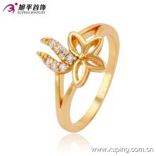 Mais recente Projeto Popular-Banhado A Ouro Betterfly Jóias Anel de Dedo Design para As Mulheres -13528