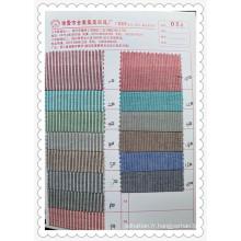 Tissu de vêtement de ruban de coton