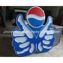 Placa de acrílico para señal de publicidad y caja de lámpara