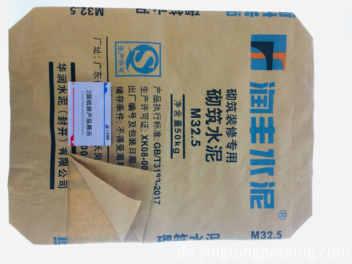 Special cement paper bag for masonry decoration