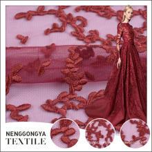 Oem Service Verschiedene Arten von Polyester Voile Stickerei Spitze Stoff Textil