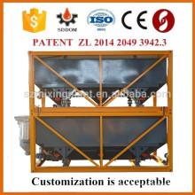 Silo ciment horizontal avec certificat CE et ISO pour usine de dosage en béton
