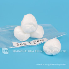 Disposable medical sterile pack non woven ball