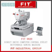 Прямой привод компьютера управления ушко Петельная швейная машина