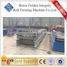Rodillo del suelo que forma la máquina formadora hecho en China, rodillo de la cubierta del piso que forma la máquina en la acción