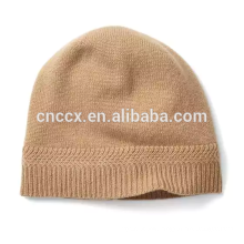 PK17ST038 Cashmere Hat with cuff winter knit hat