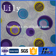 100% Polyester factory check design printed pongee fabric