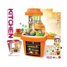 Cozinha de plástico crianças com música e luz (h5931056)