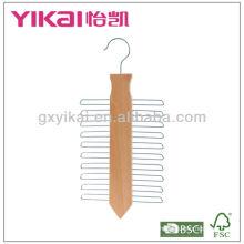 Домашнее использование 20 отверстий деревянная вешалка для галстука