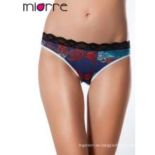 Miorre bordó el cordón detalló la ropa interior elegante de las mujeres panty de las mujeres