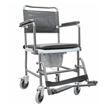 Steel wheeled commode chair