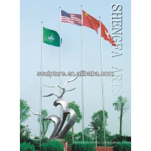 2016 New High Quality Stainless Steel Modern Outdoor Sculpture