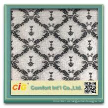 último diseño china terciopelo tela decorativo sofá tela precio por metro