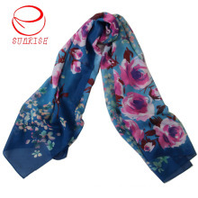 Guaranteed Silk Wool Floral Design Long Scarf