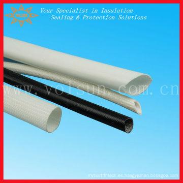 Mangas trenzadas de goma de silicona de fibra de vidrio