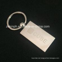 Kundenspezifisches graviertes Laser-Metallkeychain druckte Metallkeychain für Förderung