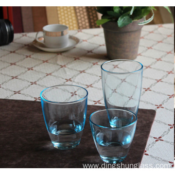 Heat resistant stained glass cups