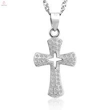 Neue Ankunft Antik beste 925 Sterling Silber Kreuz Anhänger