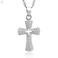 Nova chegada antique best 925 sterling silver cross pendant