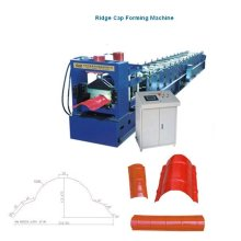 Rolled steel ridge cap roll forming machine