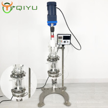 QIYU polypeptide Jacketed filter vacuum Glass Reaction system 100mL