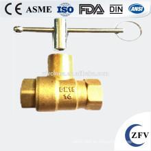 Fábrica precio 4 pulgadas cw617n forjado válvula de bola de latón mini fabricante