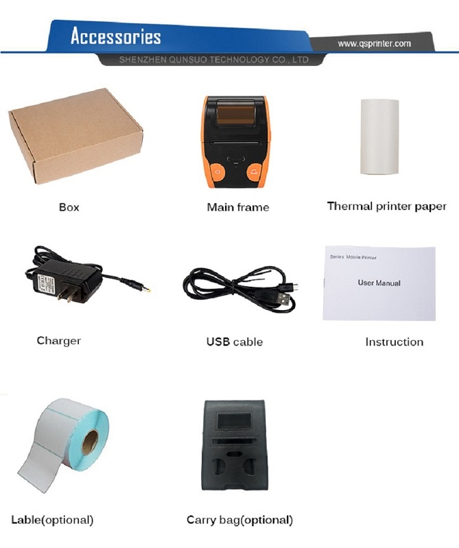 QS 5806 printer packing list