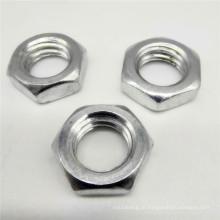 Porca de fixação de titânio hexagonal de alumínio