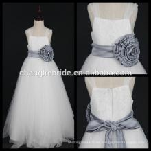 Real Photos Niñas vestido de niña vestidos ceremonia Niño vestido sin mangas vestido blanco con flor grande