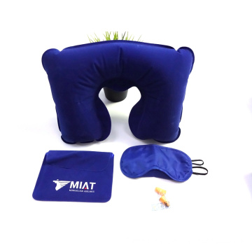 Customized OEM Promotional Soft Touch 3 in 1 Airline Travel Set