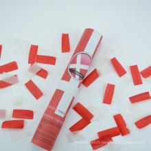 Canon à confettis de 12 '' avec papier blanc et rouge antidérapant