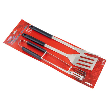 Set di barbecue per barbecue in acciaio inox 3pc