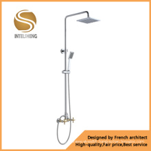 Brass Chrome Wall Mounted Bath Shower Faucet (AOM-6111)