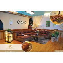 2017 Wonderful Wicker Rattan Living set Home furniture (acasia wooden fram, water hyacinth handmade woven)