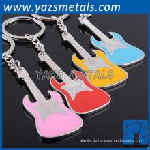 China Hersteller OEM Metall Musik Hinweis keyhain