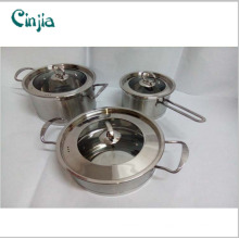 2016 Chinese Kitchenware 6PCS Magnetic Stainless Steel Cookware