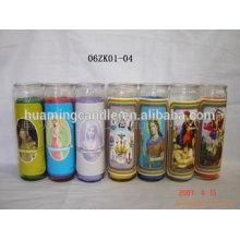 Huaming 7 дневных свечей оптом Экспортеры / 7 дней стеклянные религиозные свечи