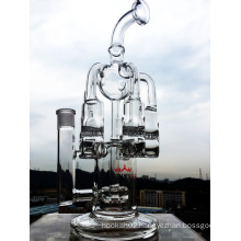 New Design Wholesale High Quality Recycler Smoking Glass Water Pipe
