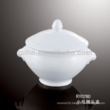 nice chinese white porcelain heat resistant soup bowl
