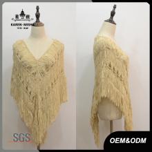 Poncho de suéter de diseño especial para mujer