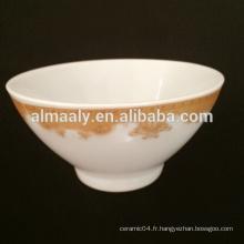 Bol à pied en céramique de 5 po en porcelaine