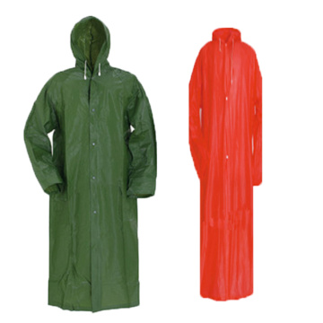 PVC / Polyester RainJacket Dengan Button Zipper