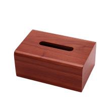 Caixa de lenços de papel de madeira maciça feita à mão personalizada para casa